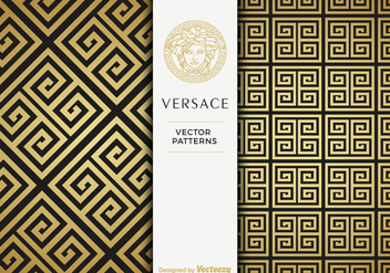 Free Versace Golden Vector Patterns - Kostenloses vector #412523