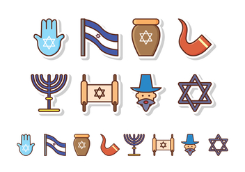Free Israel Icon Set - vector #412533 gratis