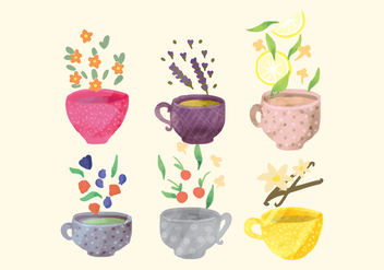 Vector Hand Drawn Cups - vector gratuit #412583