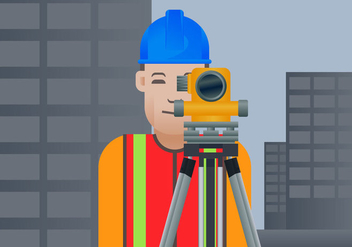 Free Surveyor Vector Illustration - Free vector #412623