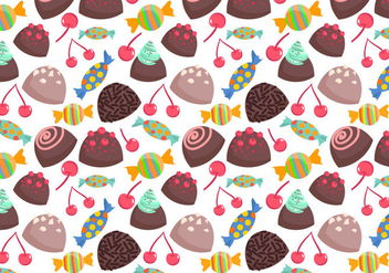 Free Sweets Pattern 2 Vectors - бесплатный vector #412643