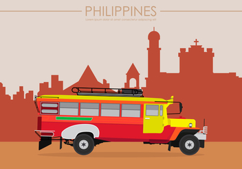 Jeepney Philippines Illustration - vector gratuit #412653