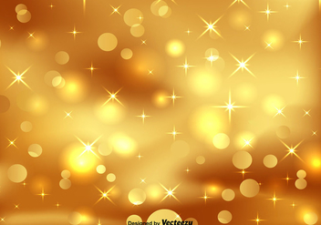 Golden Bokeh - Vector - бесплатный vector #412763