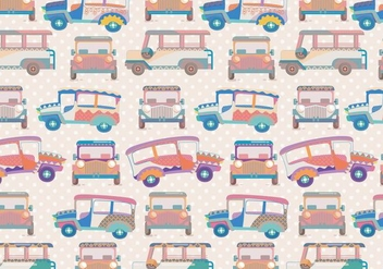 Jeepney Pattern Vector - бесплатный vector #412873