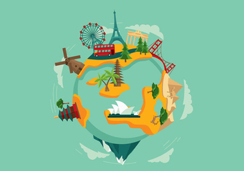World Travel Free Vector - бесплатный vector #412903