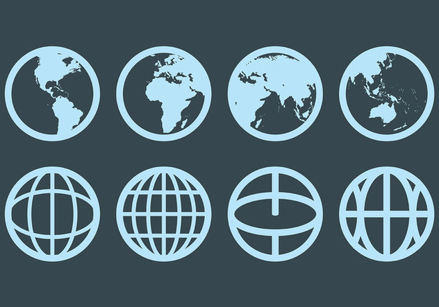 Free Globus Icons Vector - Free vector #412943