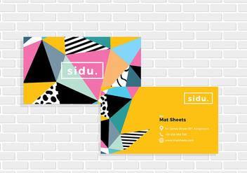 Name Card Template Vector - vector gratuit #412993