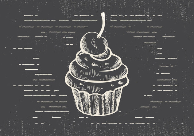 Free Hand Drawn Muffin Vector Background - Free vector #413183