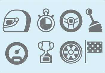 Car Race Icons - Free vector #413213