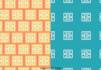 Greek Key Pattern - vector gratuit #413233