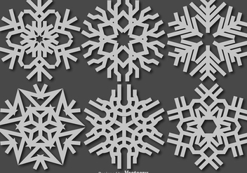 Vector Snowflakes Icon - Free vector #413263