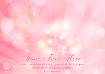 Beautiful Pink Sunray Bokeh Background - бесплатный vector #413333