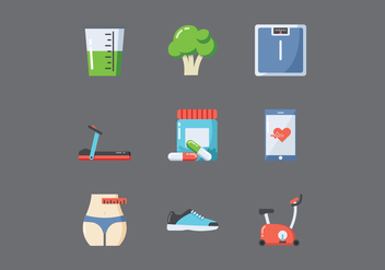Free Healthy Lifestyle Icons - vector gratuit #413373