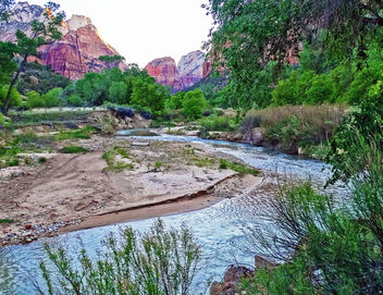 A River Runs Through It, Zion NP 2014 - Kostenloses image #413403