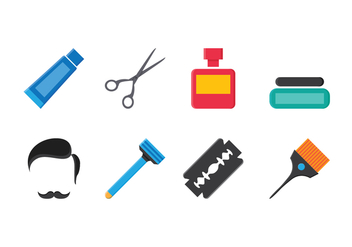 Free Barber Icon Set - vector #413473 gratis