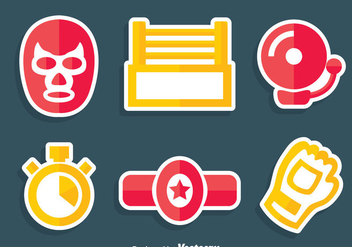 Wrestline Element Vector Set - Free vector #413503
