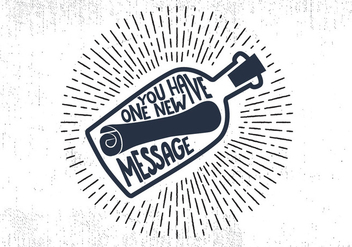 Free Message in a Bottle Hand Lettering Vector - Free vector #413553