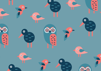Geometric Birds Pattern - vector gratuit #413563