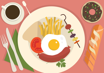 Free Vector Food Illustration - Free vector #413593