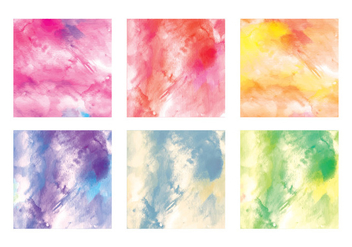 Vector Watercolor Squares - vector gratuit #413633