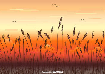 Sea Oats Vector Background - бесплатный vector #413643