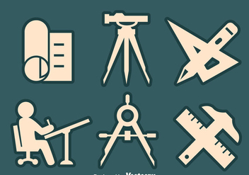 Surveyor Element Icons Vector - Free vector #413703