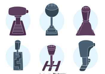 Car Gear Shift Collection Vector - vector gratuit #413713