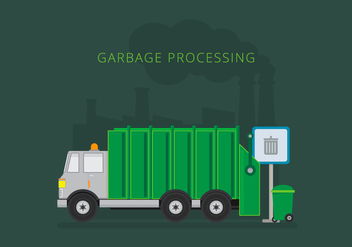 Landfill Garbage Truck - Free vector #413743
