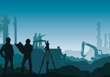 Surveyor Mine Free Vector - vector gratuit #413793