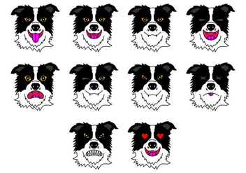 Free Border Collie Emoticon Vector - Kostenloses vector #413833