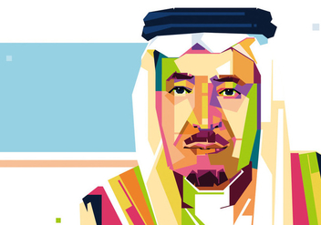 Saudi Arabia King Vector - WPAP - бесплатный vector #413873