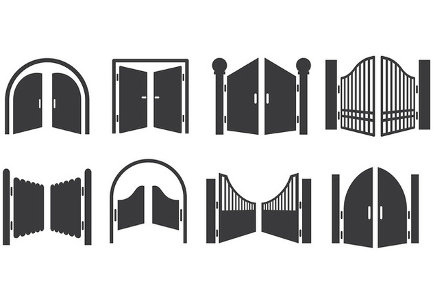 Free Open Gate Icons Vector - vector gratuit #413883