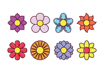 Free Flower Icon Set - vector gratuit #413893