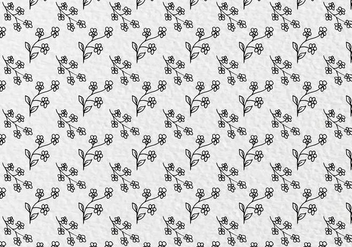 Free Vector Flowers Pattern - бесплатный vector #413913