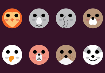 Animal Head Icon Vector - Free vector #413923