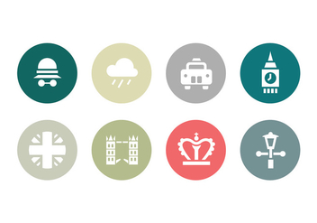 Collection of London Flat Icons - Free vector #413973