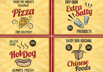 Retro Food Vectors - vector #413993 gratis