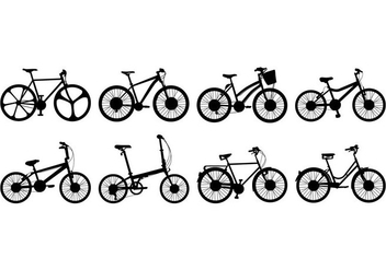 Free Bicycle Silhouettes Vector - бесплатный vector #414003