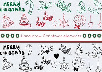 Free Vector Christmas Set - Kostenloses vector #414053