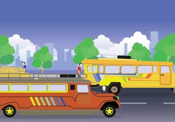 Free Jeepney Illustration - бесплатный vector #414183