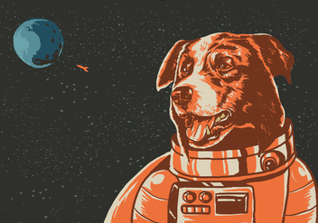 Space Border Collie - vector gratuit #414233