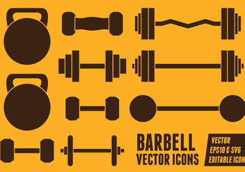 Barbell Vector Icons - Free vector #414323