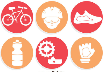 Bicycle Element Icons Vector - Free vector #414423
