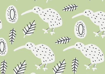 Green Kiwi Bird Pattern - vector gratuit #414503