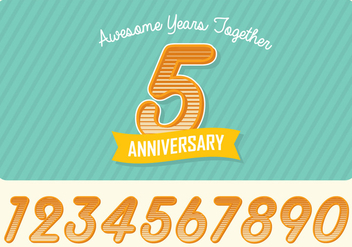Anniversary Greeting Card - vector gratuit #414513