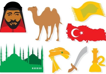 Free Turkey Elements Icons Vector - бесплатный vector #414753