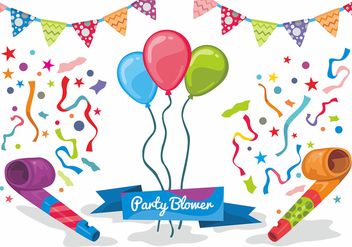 Party Blower Vector Design - vector #414803 gratis