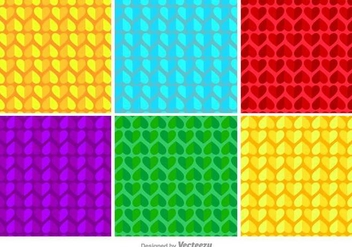 Geometric Hearts Vector Pattern - бесплатный vector #414923