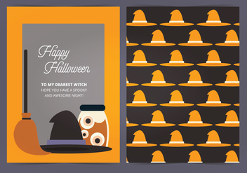 Vector Halloween Card - Kostenloses vector #414963
