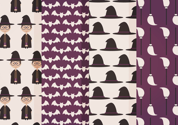 Halloween Vector Patterns - Free vector #414973